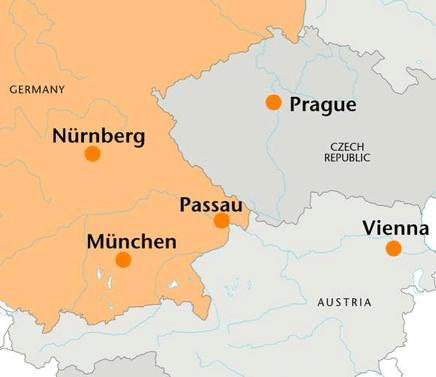 Map Passau