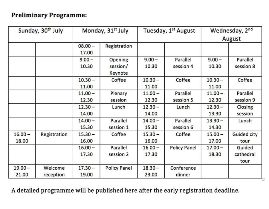 Preliminary Programme
